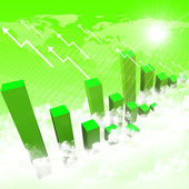 Business chart and graphs — Stock Photo