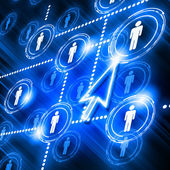 Model sociální sítě — Stock fotografie