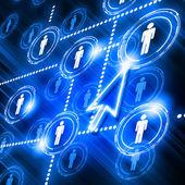 Modell av sociala nätverk — Stockfoto
