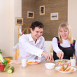 Young couple in the kitchen — Stock Photo #4870546