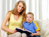 Young mother with a son — Stock Photo