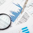 Financial charts and graphs — Stock Photo #4880413