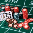 Place a poker player — Stock Photo #4880506