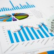 Financial charts and graphs — Stock Photo