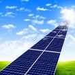 Road from solar panels — Stock Photo #4899707