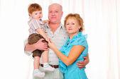 Nonna, nonno e nipote — Foto Stock