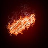 Symbole feu de bras ouverts — Photo