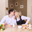 Young couple in the kitchen — Stock Photo #4925093