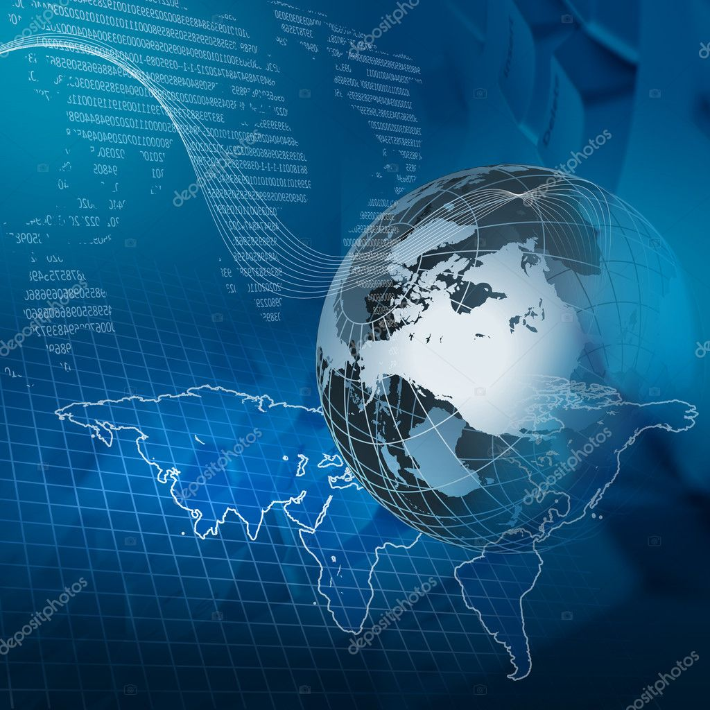 Global business and modern global technology illustrated — Stock Photo #4924934