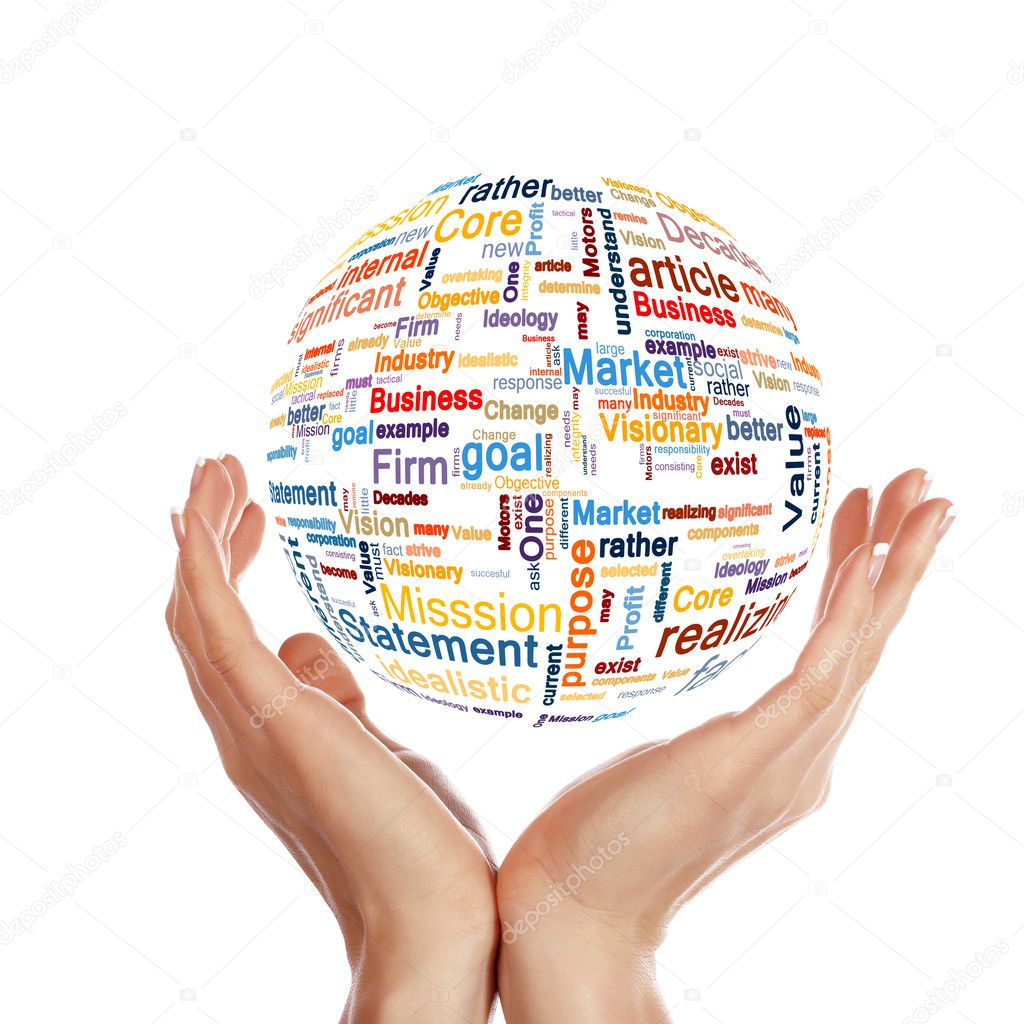 A world map made from business words as a concept of global business — Stock Photo #4925051
