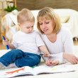 Little boy and his mother — Stock Photo