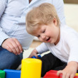 Little boy playing at home — Stock Photo