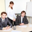 A young businessmen in office — Stock Photo