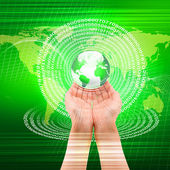 Illustrazione di tecnologia globale — Foto Stock
