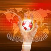 Küresel teknoloji illüstrasyon — Stok fotoğraf