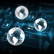 Royalty-Free Stock Photo: Computer keyboard and globe