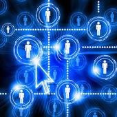 社会的ネットワークのモデル — ストック写真