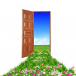 Door toward nature — Stock Photo