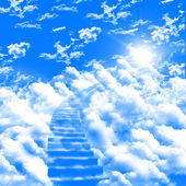 Ladder up to skies — Stock Photo