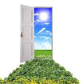 Door toward nature — Stock Photo