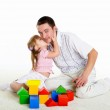 Portrait of a father with his little daughter — Stock Photo