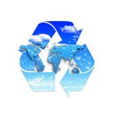环境保护和循环再用的象征 — 图库照片