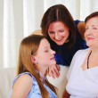 Three generations of women together — Stock Photo