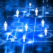 Model of social network — Stock Photo