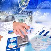 Grafici e tabelle finanziarie — Foto Stock