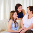 Three generations of women together — Stock Photo #5078552