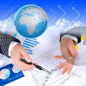 Finansal tablolar ve grafikler — Stok fotoğraf