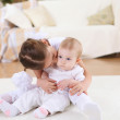Two little sisters together at home — Stock Photo #5090330
