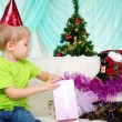 Little boy getting ready for the holiday — Stock Photo #5090345
