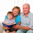 Grandmother, grandfather and grandson — Stock Photo #5100995
