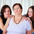 Stock Photo: Three generations of women together