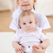 Two little sisters together at home — Stock Photo #5101096