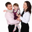 Young parents with a little daughter — Stock Photo
