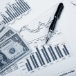 Financial charts and graphs — Stock Photo #5157256