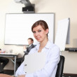 Young business woman in office — Stock Photo #5167251
