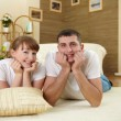Couple at home relaxing — Stock Photo #5167272