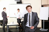 A young businessman in office — Stock Photo