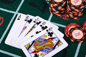 Place a poker player — Foto Stock