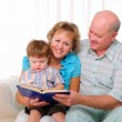Grandmother, grandfather and grandson — Stock Photo #5183545