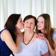 Three generations of women together - Stok fotoğraf