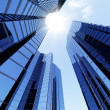 Stock Photo: 3D blue sky scrapers