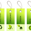 Light green tags with inscriptions — Stock Photo