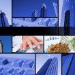 Collage of various business elements — Stock Photo