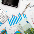 Financial charts and graphs — Stock Photo #5197654