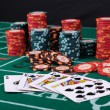 Place a poker player — Stock Photo #5197711