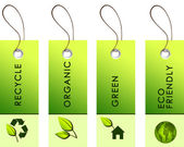 Light green tags with inscriptions — Foto Stock